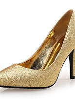Для женщин Обувь Лак Искусственное волокно Осень Удобная обувь Обувь на каблуках На шпильке Заостренный носок Назначение Для вечеринки /