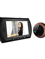 4.3 lcd sonnette écran couleur spectateur judas de porte numérique caméra spectateur oeil porte enregistrement vidéo 140 degrés vision