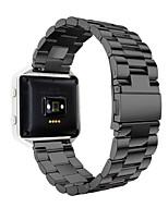 Недорогие -Черный / Золотистый / Серебристый Нержавеющая сталь Fashion Спортивный ремешок Для Fitbit Смотреть 23мм