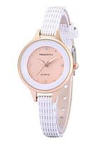 Жен. Модные часы Наручные часы Повседневные часы Китайский Кварцевый Повседневные часы Кожа Группа На каждый день Elegant Черный Белый