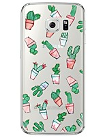 cheap -Cactus Pattern Soft Ultra-thin TPU Back Cover For Samsung GalaxyS7 edge/S7/S6 edge/S6 edge plus/S6/S5/S4