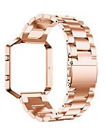 abordables -Negro / Rose / Dorado / Plata Acero Inoxidable / Metal Hebilla Clásica Para Fitbit Reloj 23mm