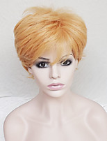 cheap -Synthetic Hair Wigs Curly With Bangs Party Wig Natural Wigs Short Orange