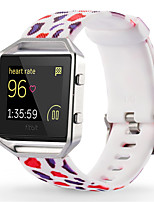 Недорогие -Красный / Зеленый / Розовый силиконовый Спортивный ремешок Для Fitbit Смотреть 23мм