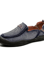 preiswerte -Herren Schuhe Leder Frühling Herbst Komfort Loafers & Slip-Ons Für Normal Grau Blau Khaki