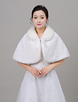 cheap -Sleeveless Faux Fur Wedding Women's Wrap With Wave-like Capelets