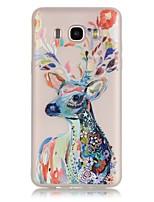 economico -Per Samsung Galaxy Custodia Fosforescente / Transparente Custodia Custodia posteriore Custodia Con animale Morbido TPU SamsungJ7 (2016) /