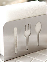 Stainless Steel Knife Fork Freestanding Countertops Paper Towel Holder Stand Kitchen Tool
