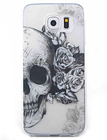 cheap -Skull Pattern Material TPU Phone Case For Samsung Galaxy S5 S6 S7 S6 Edge S7 Edge
