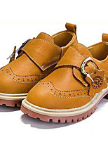 cheap -Girls' Shoes Nappa Leather Winter Fall Comfort Oxfords Hook & Loop For Casual Outdoor Brown Dark Blue