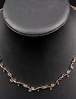 Недорогие -Жен. Многослойный Ожерелья-бархатки - Мода Очаровательный Ожерелье Бижутерия Назначение Повседневные, Офис