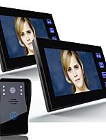 Ennio 7 de vídeo porta telefone campainha intercom 1000tvl exterior CCTV câmera de segurança 2pcs monitor interno