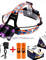 cheap -U'King ZQ-X826 Headlamps LED 3000 lm 4 Mode LED with Batteries and Chargers Zoomable Adjustable Focus Rechargeable Easy Carrying High
