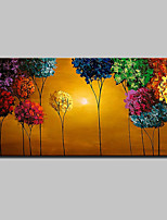 cheap -Oil Painting Hand Painted - Floral / Botanical Modern With Stretched Frame / Stretched Canvas With Stretched Frame