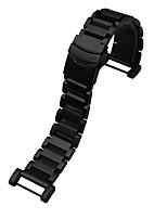 economico -Nero / Argento Acciaio inossidabile Cinturino sportivo Per Suunto Orologio 24mm