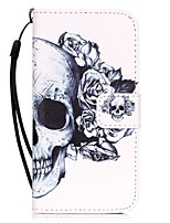 cheap -Skull Pattern Material PU Card Holder Leather for  iPhone 7 7 Plus 6s 6 Plus SE 5s 5 5C 4S