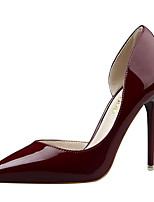 Women's Shoes Patent Leather Spring Summer Basic Pump Novelty Heels Stiletto Heel Pointed Toe Hollow-out For Party & Evening Dress