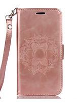 preiswerte -Für Samsung Galaxy S7 Edge Geldbeutel / Kreditkartenfächer / mit Halterung / Flipbare Hülle / Geprägt / Muster HülleHandyhülle für das