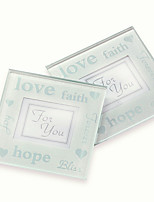 cheap -2pcs/box - Glass Coasters Wedding Favors