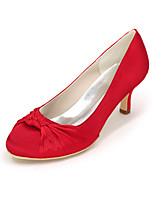 cheap -Women's Shoes Satin Spring Summer Basic Pump Wedding Shoes Null Stiletto Heel Round Toe Null Side-Draped For Wedding Party & Evening