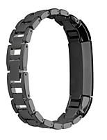 economico -Nero / Rose / Oro / Argento Acciaio inossidabile Cinturino sportivo Per Fitbit Orologio 16mm