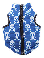 cheap -Dog Coat Dog Clothes Skull Blue Woolen Nylon Costume For Pets Men's Women's Casual/Daily