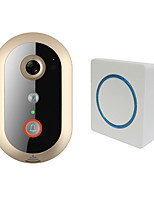LEKEMI WiFi Video Doorbell with HD 720P PIR sensor 8G memory Indoor Speaker Wide-angle Lens and Night Vision
