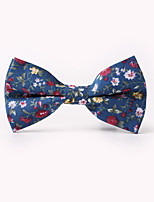 cheap -Men's Cotton Bow Tie,Vintage Party Work Casual Winter Spring Summer Fall All Seasons White Black Dark Blue Brown Light Blue