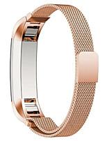 preiswerte -Schwarz / Rose / Gold / Silber Edelstahl / Metall Mailänder Schleife Für Fitbit Uhr 10mm
