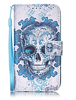 For Case Cover Card Holder Wallet with Stand Flip Magnetic Pattern Full Body Case Skull Hard PU Leather for Samsung Galaxy S8 Plus S8