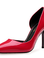Women's Shoes Patent Leather Spring Fall Comfort Heels Stiletto Heel Pointed Toe For Party & Evening Dress Almond Blue Red Black