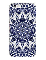 baratos -Capinha Para iPhone X iPhone 8 iPhone 6 Plus iPhone 6 Ultra-Fina Estampada Capa Traseira Mandala Macia TPU para iPhone X iPhone 8 Plus