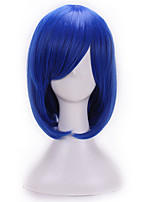 Fashion Sexy Women Straight Hair Short Wig Bule Color Cosplay Synthetic Wigs