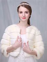 cheap -Faux Fur Wedding Party Evening Women's Wrap With Criss-Cross Shrugs