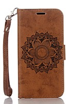 cheap -Mandala Embossed Leather Wallet for Samsung Galaxy A3(2016) A5(2016)