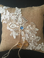 Champagne 1 Ribbons Rhinestones Embroidery Linen Wedding Ceremony