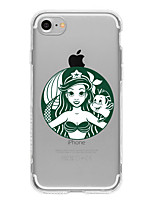economico -Custodia Per Apple iPhone X iPhone 8 Plus iPhone 7 iPhone 7 Plus iPhone 6 Fantasia/disegno Custodia posteriore Cartoni animati Morbido TPU
