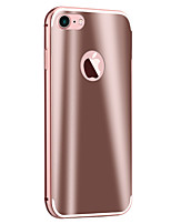 cheap -Case For Apple iPhone 5 Case iPhone 6 iPhone 7 Plating Mirror Back Cover Armor Hard Metal for iPhone 7 Plus iPhone 7 iPhone 6s Plus