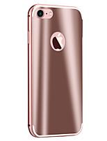 abordables -Coque Pour Apple Coque iPhone 5 iPhone 6 iPhone 7 Plaqué Miroir Coque Armure Dur Métal pour iPhone 7 Plus iPhone 7 iPhone 6s Plus iPhone