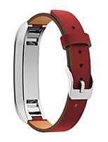 preiswerte -Rot / Schwarz / Grün / Blau / Rosa / Orange Leder Klassische Schnalle Für Fitbit Uhr 10mm