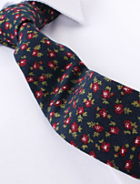 cheap -Navy Blue Floral Skinny Ties Cotton