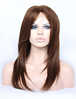 cheap -Premier Affordable Glueless Lace Front Brazilian Human Hair Lace Wigs Layered Straight 180% Density Wigs For Women