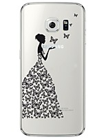 Sexy Lady Pattern Soft Ultra-thin TPU Back Cover For Samsung GalaxyS7 edge/S7/S6 edge/S6 edge plus/S6/S5/S4