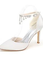 economico -Da donna Scarpe Raso Primavera Estate Decolleté scarpe da sposa Zero / Appuntite Zero Con diamantini Fibbia per Matrimonio Serata e festa