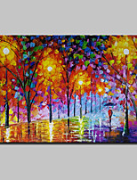 cheap -Hand-Painted Abstract Landscape Horizontal, Modern Canvas Oil Painting Home Decoration One Panel