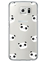 cheap -Panda Animal Tile Pattern Soft Ultra-thin TPU Back Cover For Samsung GalaxyS7 edge/S7/S6 edge/S6 edge plus/S6/S5/S4