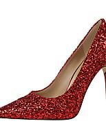 Для женщин Обувь Дерматин Весна Лето Оригинальная обувь Обувь на каблуках На шпильке Заостренный носок Круглый носок Пайетки Назначение