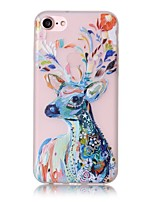 baratos -Capinha Para Apple iPhone X / iPhone 8 / iPhone 7 Brilha no Escuro / Estampada Capa traseira Animal Macia TPU para iPhone X / iPhone 8 Plus / iPhone 8