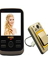 monitorando o vídeo da câmera kivos kdb01 hotel de cabo doméstico visuais anti-roubo porta campainha