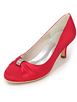 cheap -Women's Shoes Satin Spring Summer Basic Pump Wedding Shoes Null Stiletto Heel Round Toe Null Rhinestone for Wedding Party & Evening